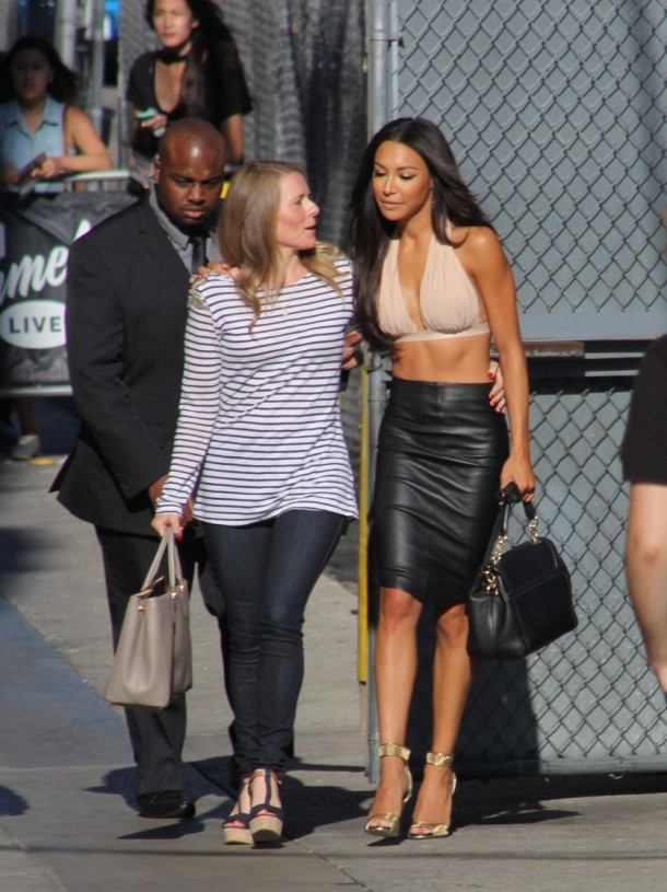 Naya Rivera spotted arriving to the Jimmy Kimmel Live show in Hollywood