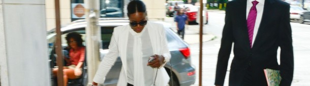 Exclusive - Usher & Ex-Wife Tameka Foster In Court For Custody Battle Following Son's Near Drowning